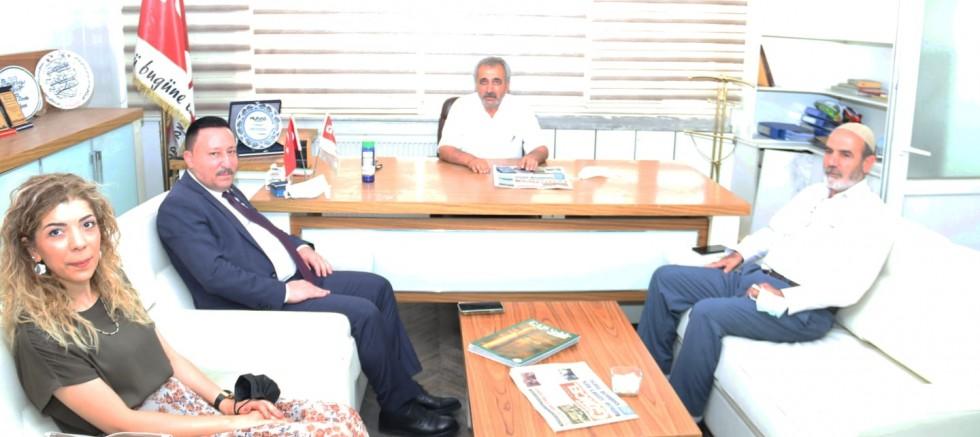 Başkan Beyoğlu, gazetemize nezaket ziyaretinde bulundu.
