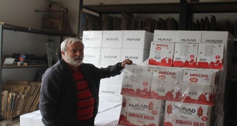 Diyarbakır'da bin 100 aileye yardım kolisi