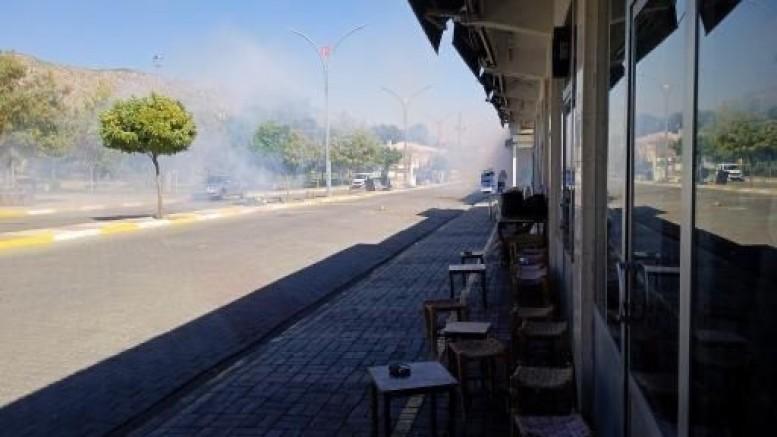 Diyarbakır'da elektrik protestosunda olaylar çıktı