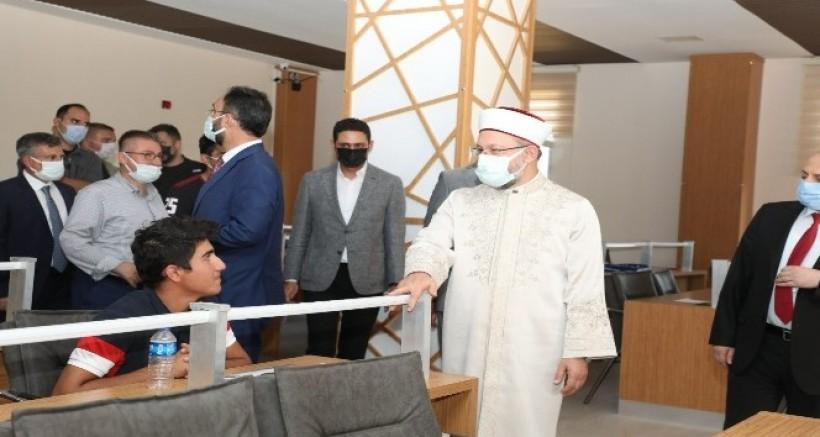 Erbaş, Gençlik ve Kültür Merkezini ziyaret etti
