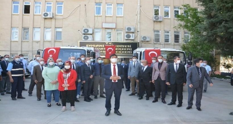 Ergani ve Silvan Belediyeleri araç filoları güçlendirdi