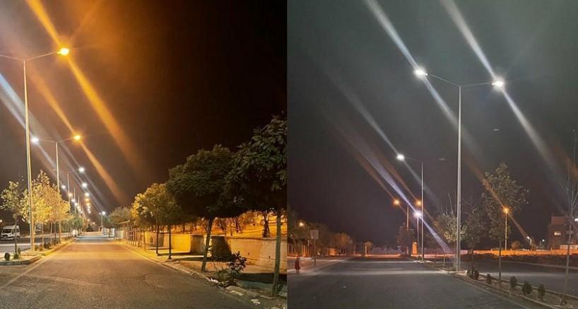 Gazi Yaşargil Eğitim ve Araştırma Hastanesi'nin yolları aydınlandı..