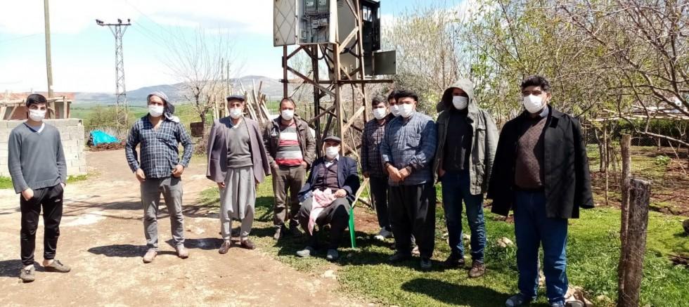 Köylülerden DEDAŞ protestosu