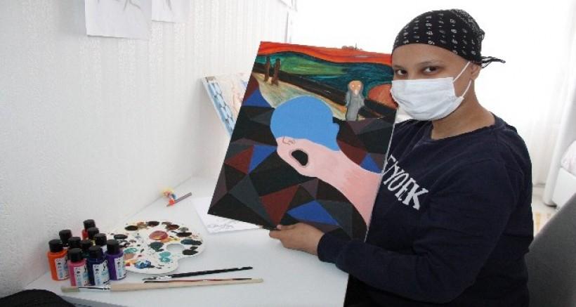 Lösemi hastası 16 yaşındaki Zeynep'in en büyük hayali Prag'da resim çizmek