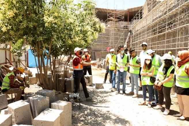 Mimarlık bölümü öğrencileri Sur'larda uygulamalı ders işledi