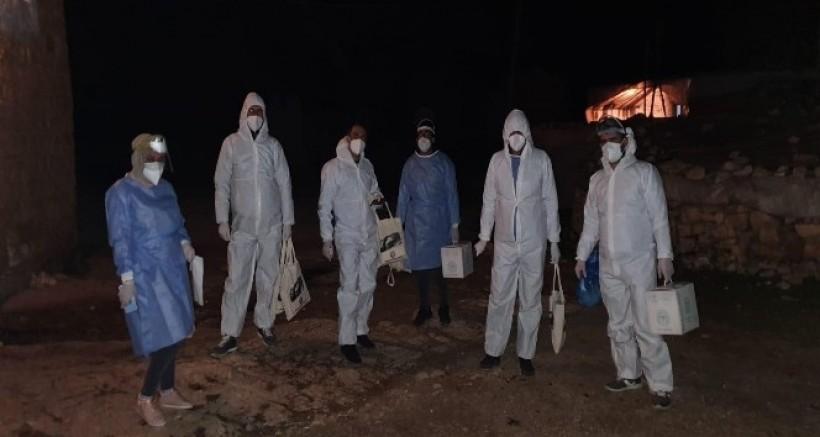 Silvan'da bir mezra, mutasyonlu virüs nedeni ile karantinaya alındı