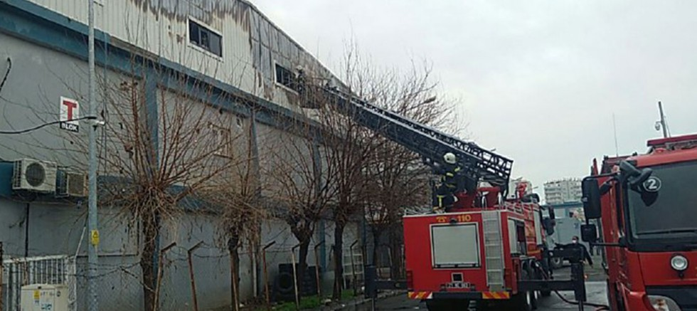 Toptancılar Sitesi'nde yangın